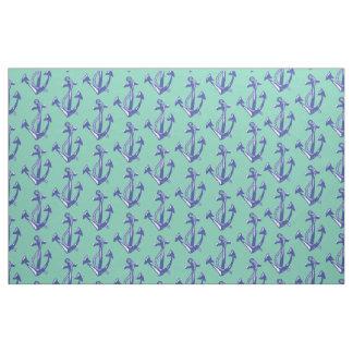 Nautical Navy Anchor pattern Fabric