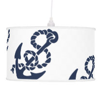 Nautical Navy Anchor Pattern Hanging Lamp