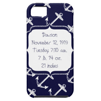 Nautical Navy Anchor Pattern iPhone SE/5/5s Case