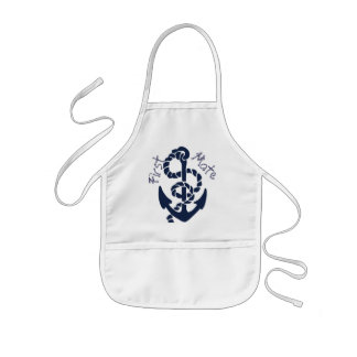 Nautical Navy Anchor Pattern Kids' Apron