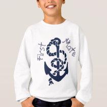 Nautical Navy Anchor Pattern Sweatshirt