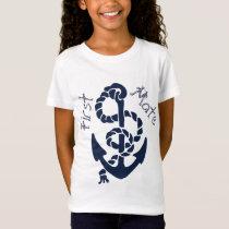 Nautical Navy Anchor Pattern T-Shirt