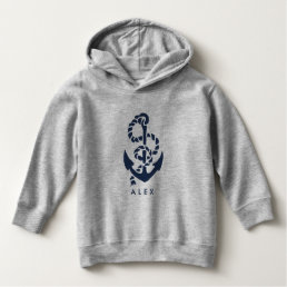 Nautical Navy Anchor Personalized Hoodie