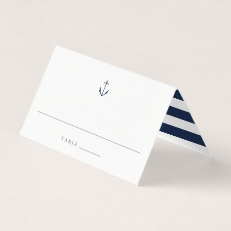 Nautical Navy Anchor Wedding Place Cards