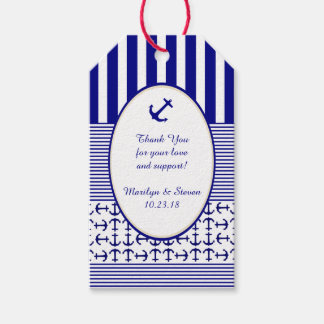 Nautical Navy and White Anchor Gift Tags Pack Of Gift Tags