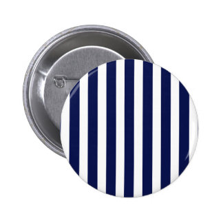 Nautical Navy and White Cabana Stripes 2 Inch Round Button