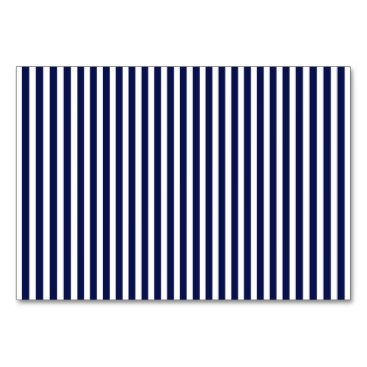 Beach Themed Nautical Navy and White Cabana Stripes Card