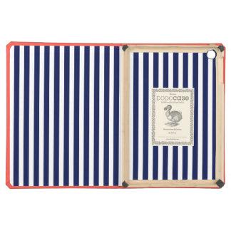 Nautical Navy and White Cabana Stripes iPad Air Case