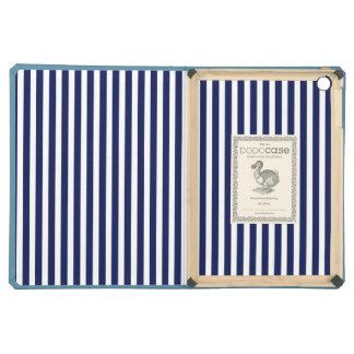 Nautical Navy and White Cabana Stripes iPad Air Cases