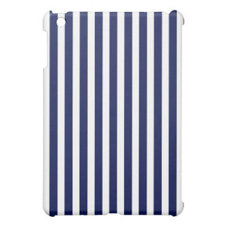 Nautical Navy and White Cabana Stripes Cover For The iPad Mini