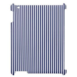 Nautical Navy and White Cabana Stripes Case For The iPad 2 3 4