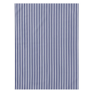 Nautical Navy And White Cabana Stripes Tablecloth