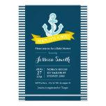 Nautical Navy and Yellow Baby Shower Invitation