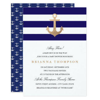 nautical baby shower invitations & announcements   zazzle, Baby shower invitations