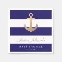 Nautical Navy Baby Shower Napkin
