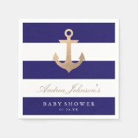 Nautical Navy Baby Shower Napkin