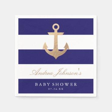 Toddler & Baby themed Nautical Navy Baby Shower Napkin