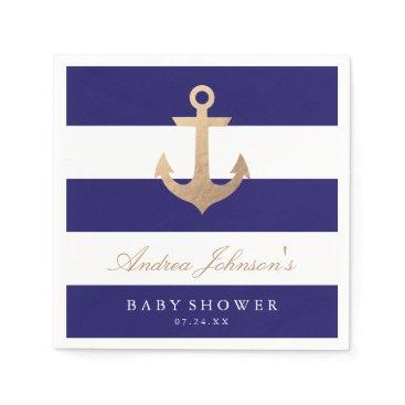 origamiprints Nautical Navy Baby Shower Napkin