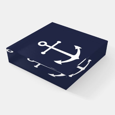 Nautical Navy Blue Anchor Paperweight