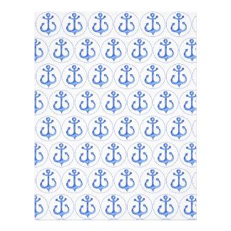 Nautical Navy Blue Anchors Scrapbook Paper