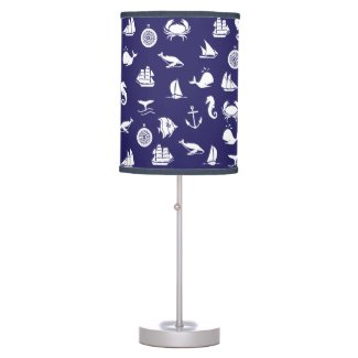 Nautical Navy Blue Home and Room Decor Lamp