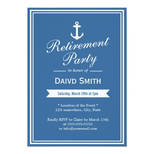 Retirement Invitation Card is nice invitation ideas