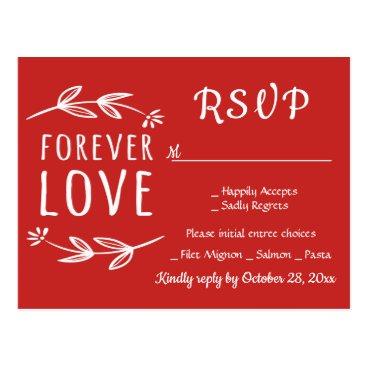 Beach Themed Nautical Navy Blue RSVP Beach Wedding Party Ocean Postcard