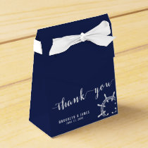 Nautical Navy Blue Wedding Favor Boxes