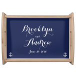 Nautical Navy Blue Wedding Gifts Serving Trays