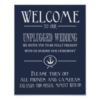 Nautical Navy Blue Welcome to our unplugged print