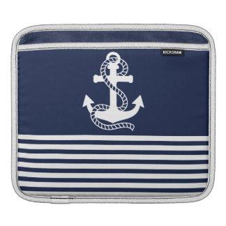 Nautical Navy Blue/White Anchor iPad Sleeve