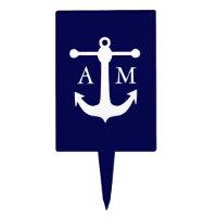 Nautical Navy Cake Pick
