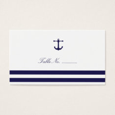 Nautical Navy Guest Table Escort Cards at Zazzle
