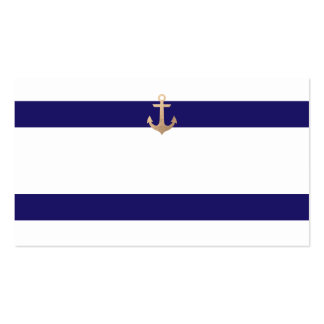 Nautical Navy Guest Table Escort Cards Business Card
