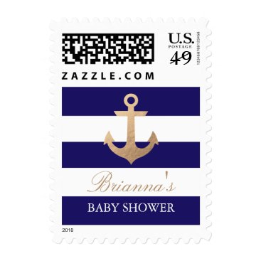 Beach Themed Nautical Navy Postage