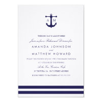 Nautical Navy Rehearsal Dinner Invite