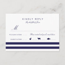 Nautical Navy RSVP W/ Meal Options