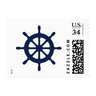 Nautical navy ship wheel 34 cent postage stamps