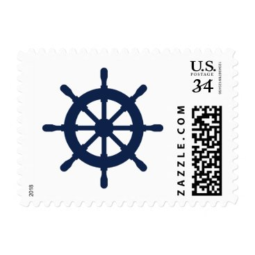 Beach Themed Nautical navy ship wheel 34 cent postage stamps