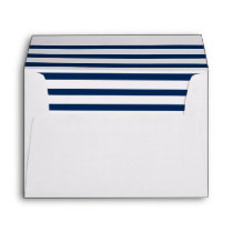 Nautical Navy Striped | Inside Envelope