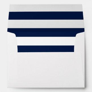 Nautical Navy Stripes Envelope