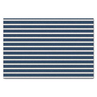 Nautical Navy Stripes Tissue Paper