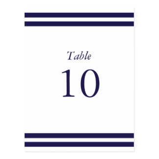 Nautical Navy Table Numbers Postcard