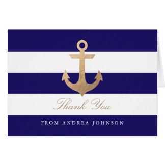 Nautical Navy Thank You Card