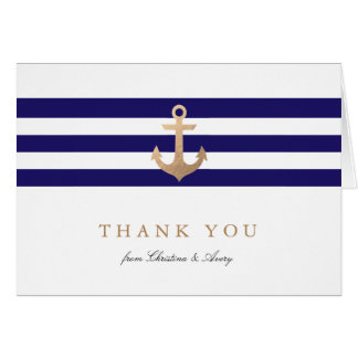 Nautical Navy Thank You Cards