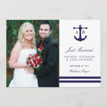 Nautical Navy Wedding Announcements