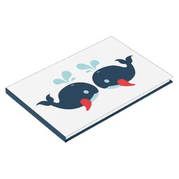 Beach Themed Nautical Navy Wedding Blue Red Whales Beach Party Guest Book