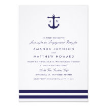 Nautical Navy Wedding Engagement Party Invite
