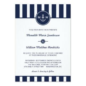 Nautical Navy Wedding Invitation 5