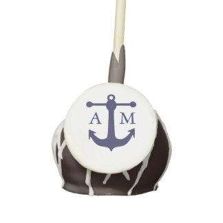 Nautical Navy Wedding Monogram Cake Pops